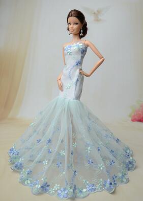 Sprawa Dla Suknia ślubna Biała Lalka Barbie Sukienki Ubrania Zabawki