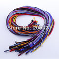 """100PCS Colorful Silk Cord Twist Thread 18"""" Necklace Fit Charms Pendant"""