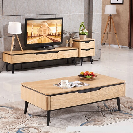 Living Room Set Living Room Furniture Home Furniture Wooden Panel Coffee Tables Tv Stands