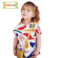 2017 New Kids Girl Clothes T shirt Summer Cartoon Graffiti Pattern Toddler Boy Top Vest Brand Short sleeve Boys Leisure T-shirt