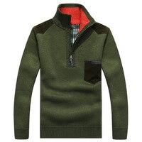 Winter Sweater Men Turtleneck Cashmere Pullovers Warm Fleece Korean England Style Coat Jacket Long Neck Zipper Male 2019 Clothes