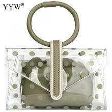 Clear Bags For Women 2019 Jelly Transparent Bag With Dot Square Yellow Crossbody 2 Pcs Bolsos Mujer Sac Femme