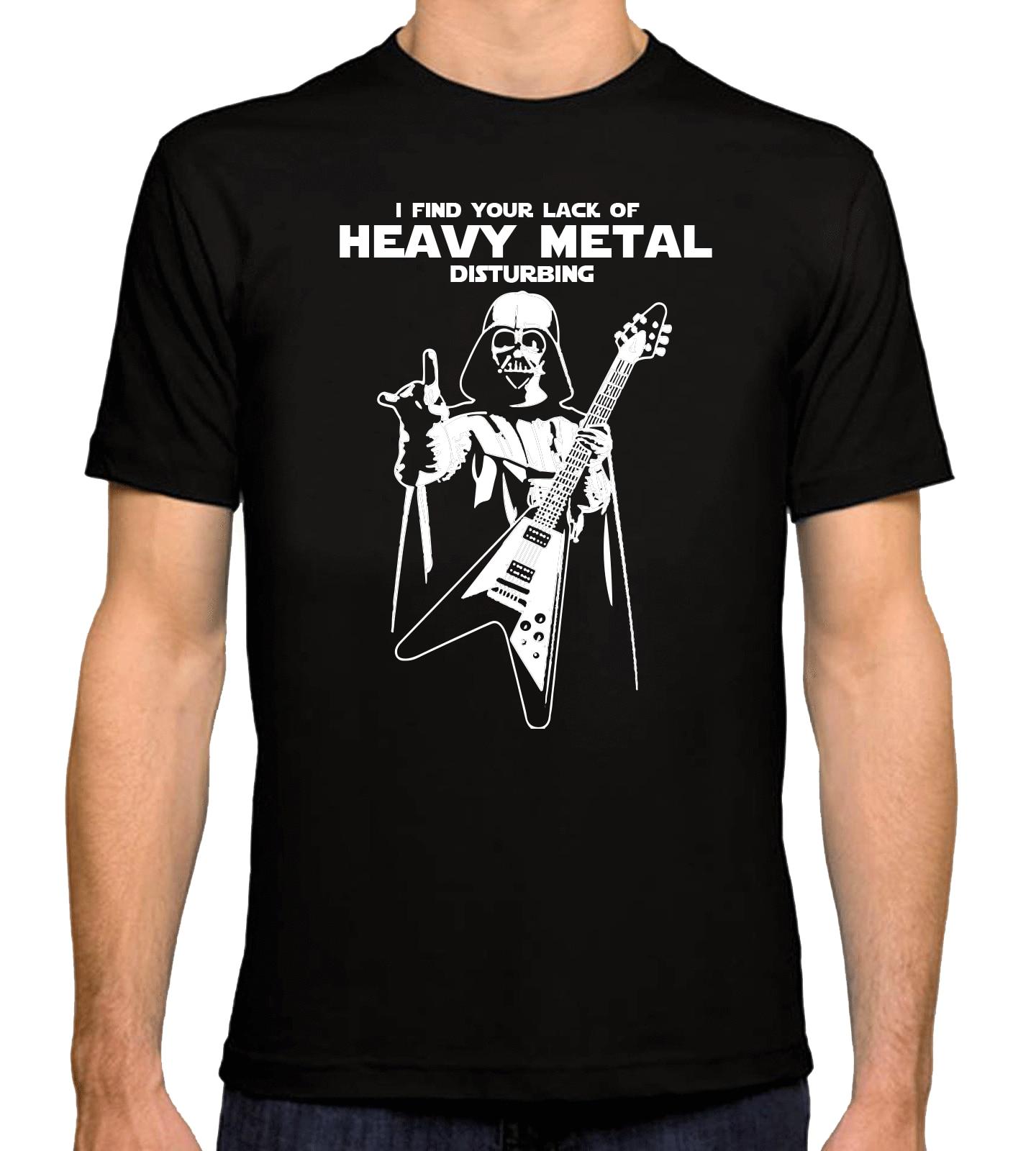 New Inspired by STARWARS Darth Vader HEAVY METAL Rock Tshirt Mens Black T- shirt Sleeve 639cda6717da