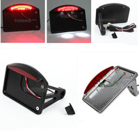 Motorcycle Side Mount License Plate Tail Light For Harley Sportster Dyna Softail Fat Bob Boy Deluxe Night Train Deuce Glide