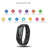 5 шт. умный Браслет Фитнес Часы Будильник счетчик шагов Bluetooth спортивный браслет Водонепроницаемый Health Monitor Напульсники