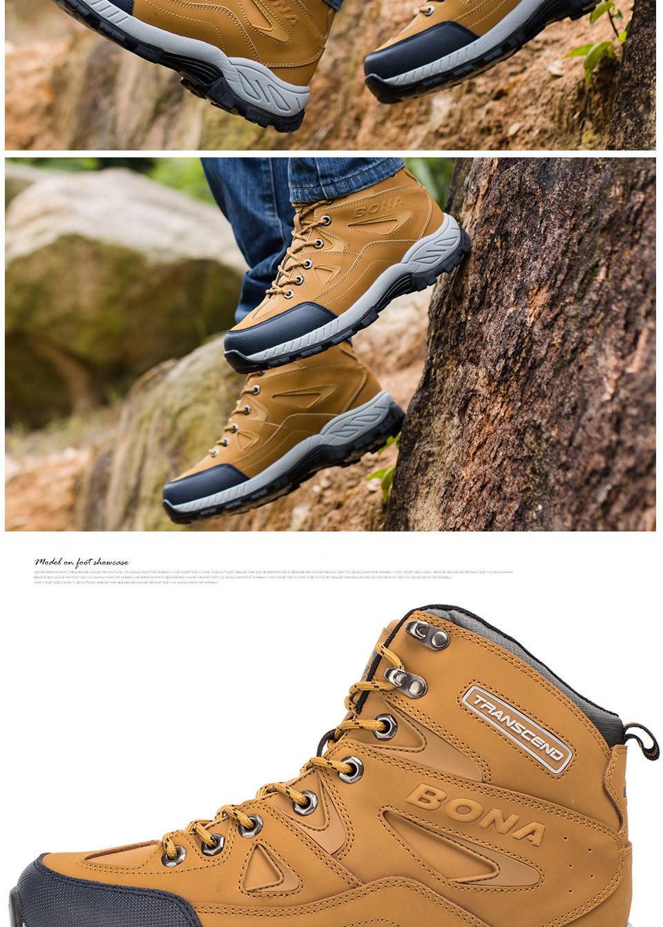 BONA Men Hiking Shoes Anti-Slip 13