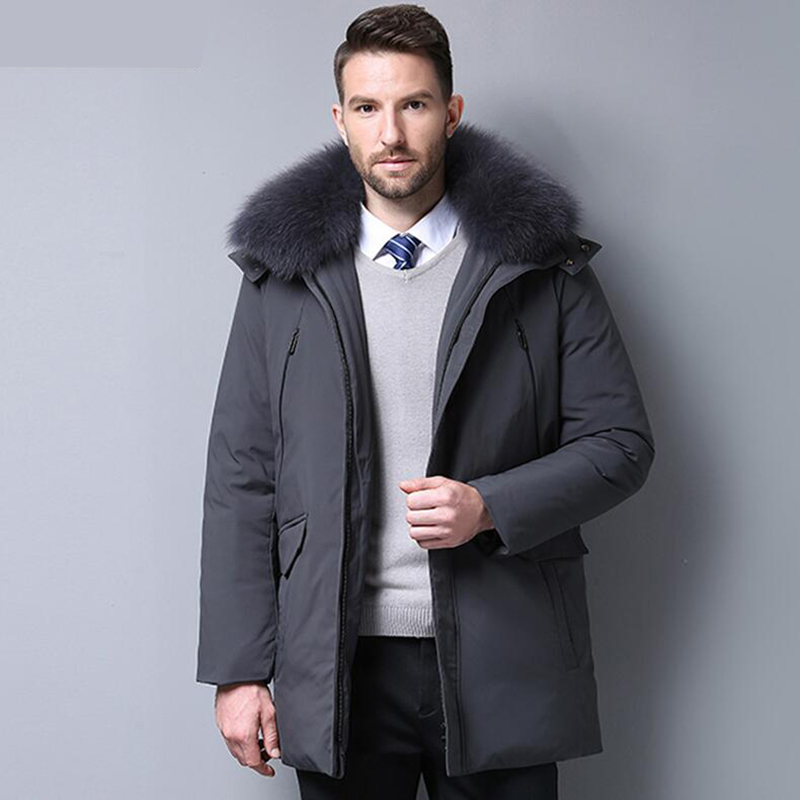 2018 Men's   Down   Jacket 90% Duck   Down   Winter Jacket Thicken Warm   Down     Coat   Fashion Hooded Outerwear Top Quality Mens clothing