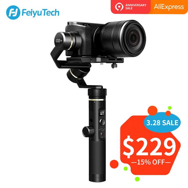 FeiyuTech Feiyu G6 Plus 3-Axes De Poche Éclaboussures stabilisateur de cardan pour appareil photo compact caméra de poche GoPro 5/6 Smartphone