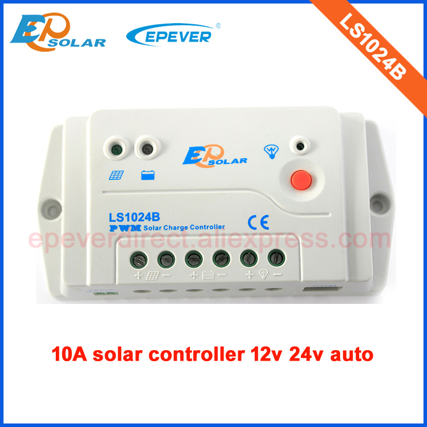 PWM LS1024B 10A 10amp 12v 24v auto work EPsloar controller solar charging regulator home system use with wifi function use epsolar pwm ls1024b 10a 10amp solar controller temperature senor 12v 24v auto work