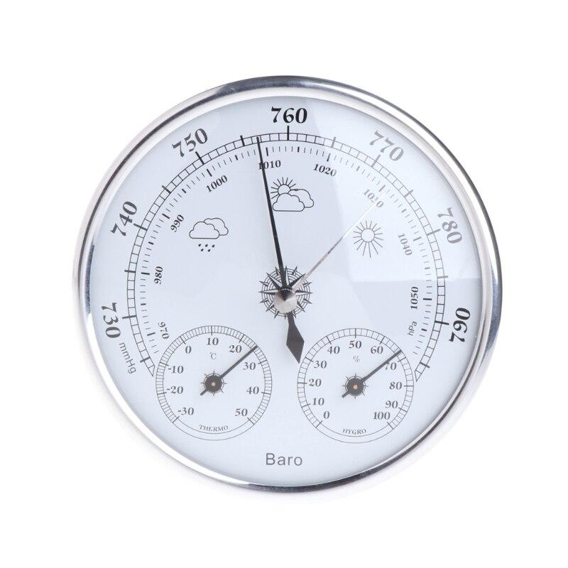 Hogar estación barómetro del higrómetro del termómetro colgando de la pared