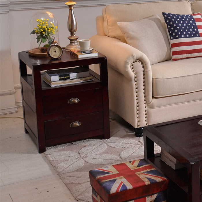 Affordable Retro Furniture: Cheap American Country Minimalist TV Cabinet Coffee Table