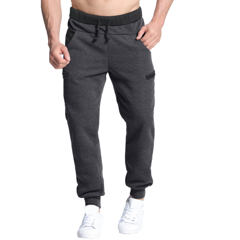 Winter Autumn Warm Velvet Sweatpants Mens Track Pants Casual Baggy Lined Tracksuit Trousers Jogger Harem Pants