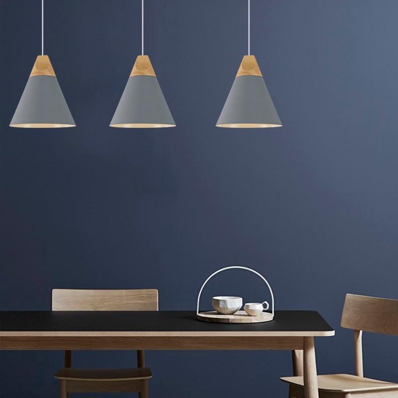 Image 4 - European color chandelier creative LED chandelier living room bedroom dining room hanging line lighting 220V aluminum-in Pendant Lights from Lights & Lighting