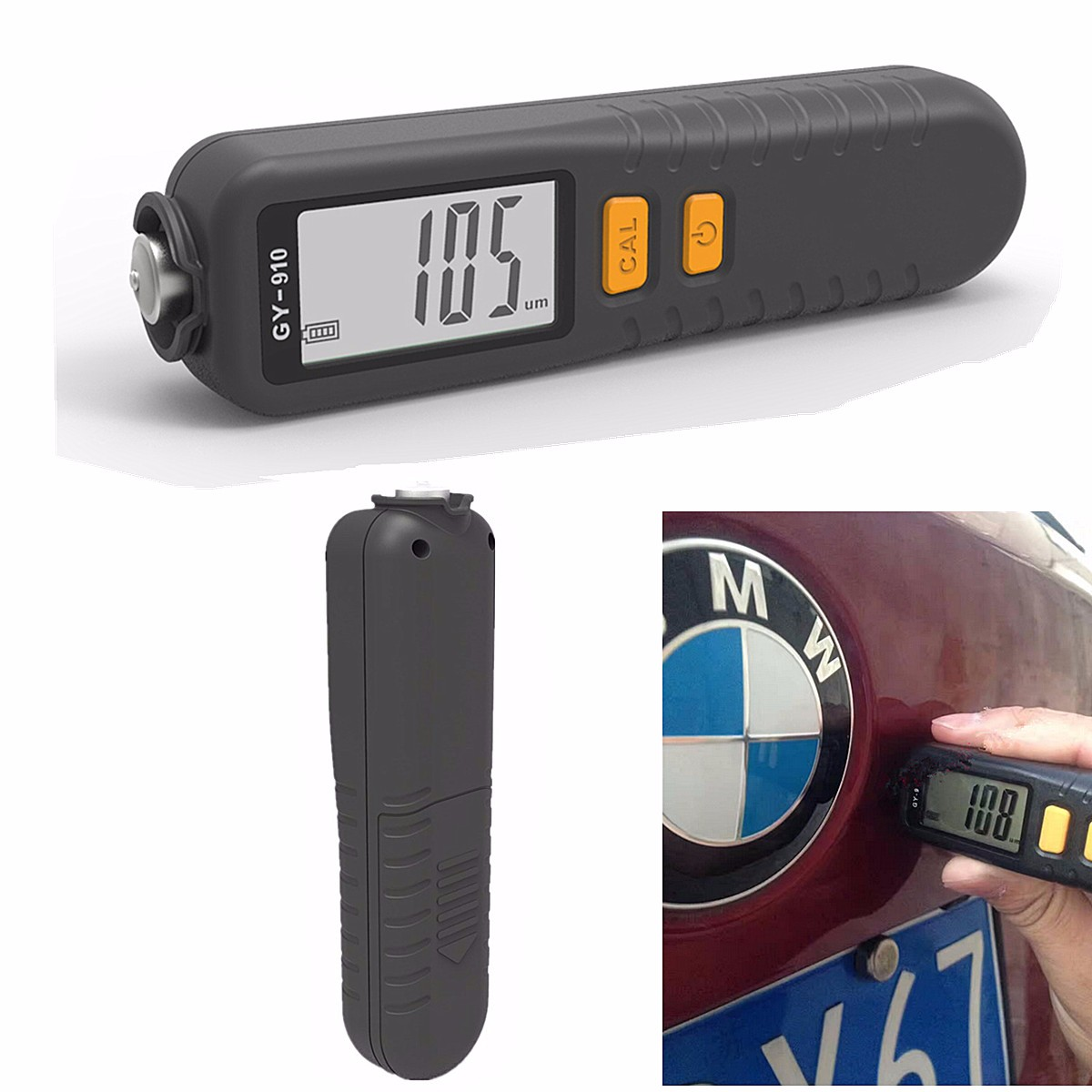 LCD Digital Coating Thickness Gauge 1 micron/0-1300 Handheld Car Paint Film Thickness Tester Meter Measuring Fe/NFe Coatings digital film coating thickness gauge mini ultrasonic automotive lcd car coat painting thickness tester width measure meter gm200
