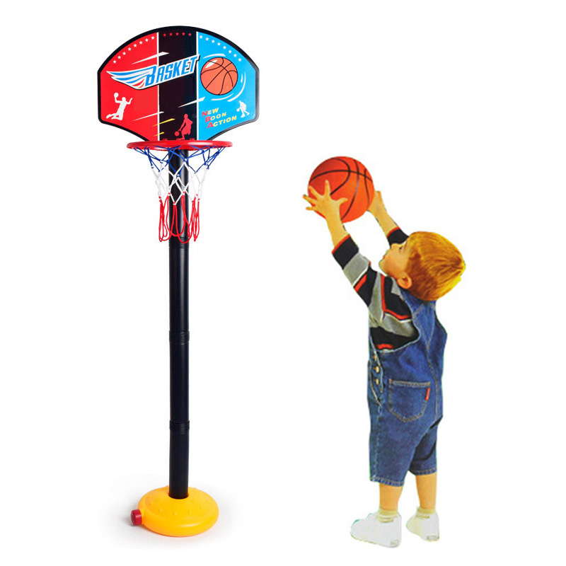 Kids Children Miniature Basketball Hoops Set Stands Adjustable with Inflator Toys Outdoor Sports Accessory 88 M09