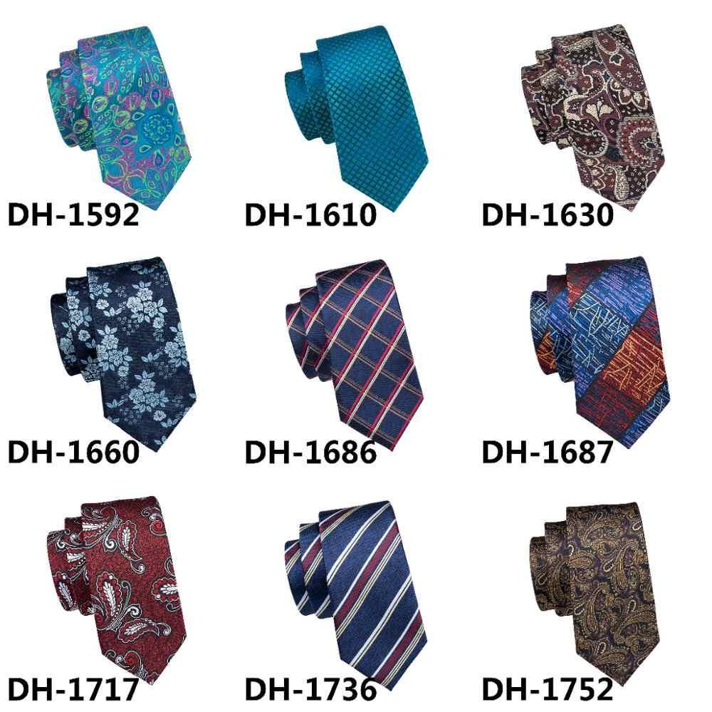 DH-660 Erkek Ipek Kravat Çok Renkli Ekose Kravat % 100% İpek Jakar Kravat Erkekler İş Düğün Parti için Ücretsiz Nakliye