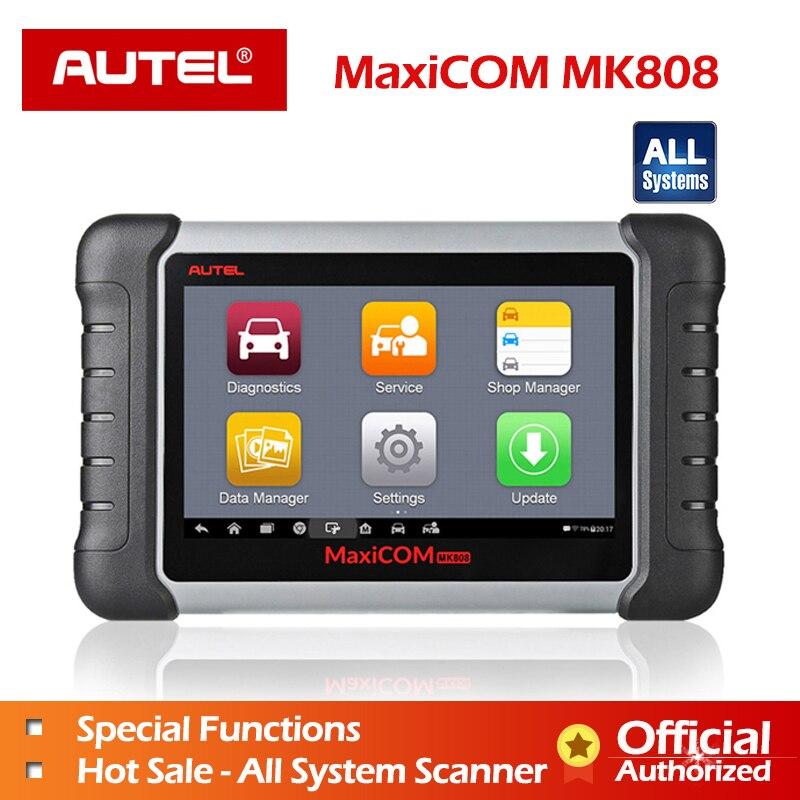 Autel MaxiCOM MK808 outil De Diagnostic MX808 Exclusive Agent Autel pour MK808 100% À L'huile Originale/EPB/SAS/BMS réinitialisation Automatique de diagnostic