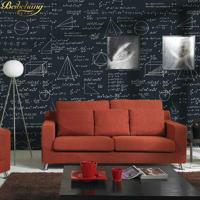 beibehang Blackboard Geometry mural Wallpaper Bedroom Living Room papel de parede 3D wall paper for kids room contact paper roll beibehang papel de parede 3d living room bedroom of wall paper roll non woven wallpaper for bedroom living room home decoration