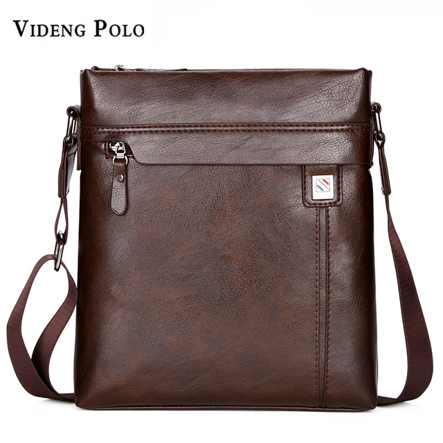 VIDENG POLO Famous Brand Leather Men Bag Vintage Men s Crossbody Shoulder Bag  Business Mens Messenger Bag Casual Male Bolsas c8b60b14ed045