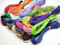 200 Meters Waxed Polyester Twisted Cord String Thread Line 1mm 20 Color