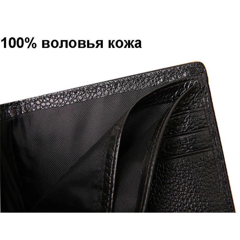 Carteras de Cuero genuino de los hombres monederos de la carpeta de la marca famosa negro marrón hombre embrague carteira masculina venta al por mayor