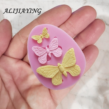 1Pcs Sugarcraft Butterfly Silicone molds fondant mold cake decorating tools chocolate moulds wedding decoration mould D0101 1