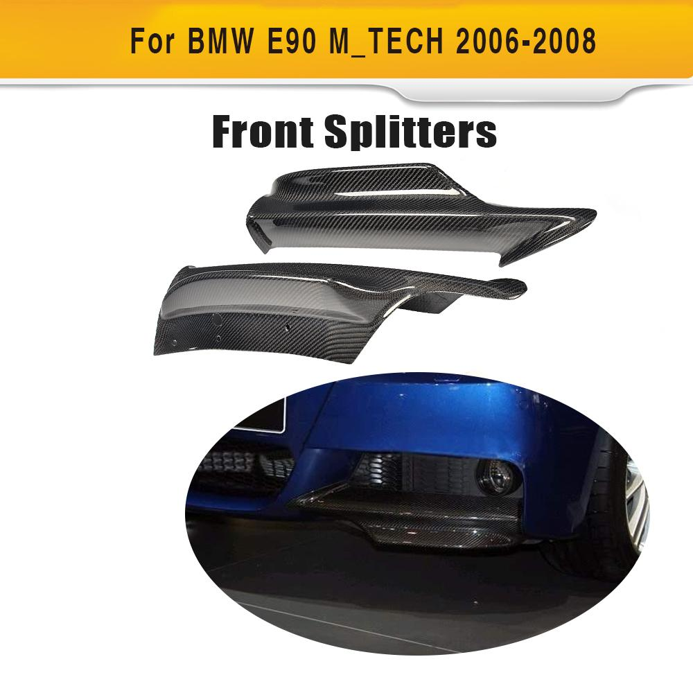 3 Series Carbon Fiber Front Bumper Lip Splitter for BMW E90 M Sport Sedan 4 Door 2005-2008 320i 323i 325i 328i 330i 335i