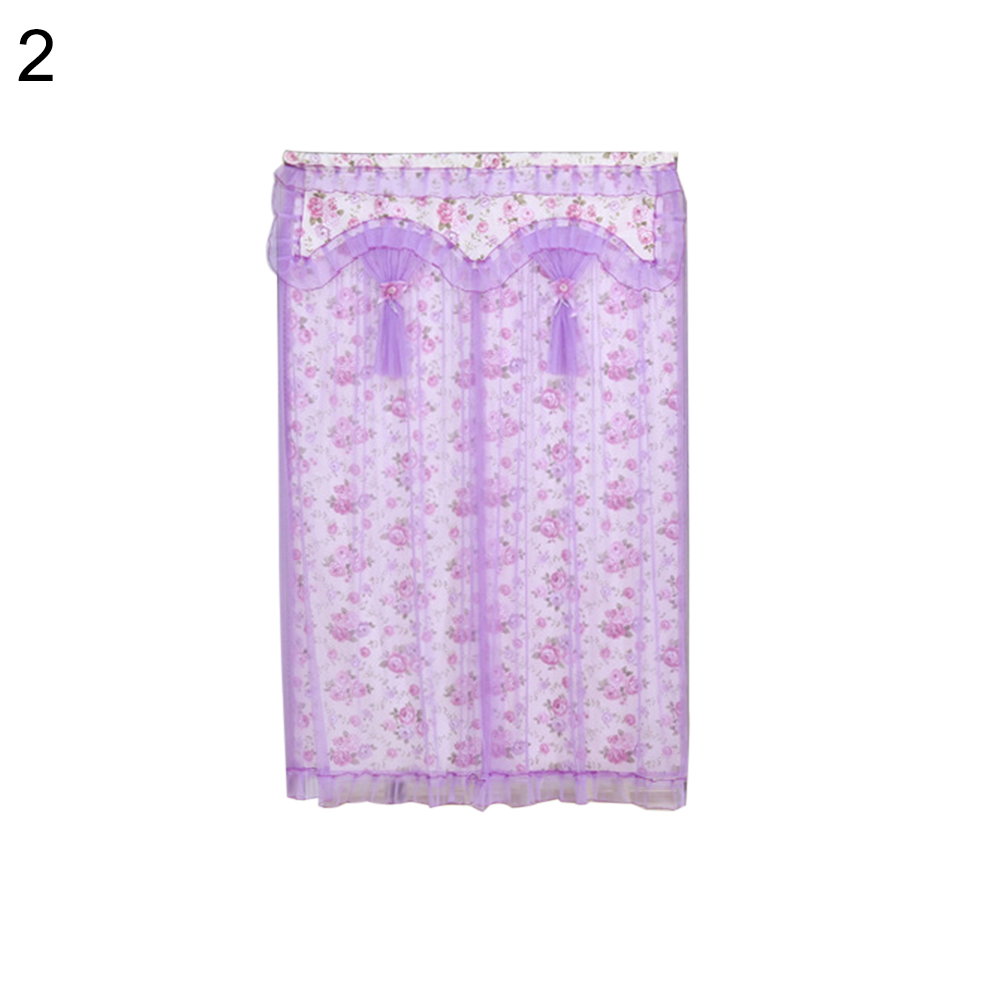 Lace Dual Layer Anti Mosquito Window Half Door Screen Curtain Summer Mesh Net in Curtains from Home Garden