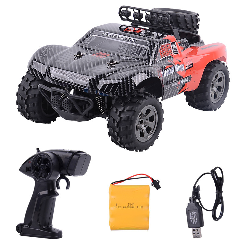 2.4GHz Wireless Remote Control Desert Truck 1/18 18km/H Drift RC Off Road Car Desert Truck RTR Toy Gift Up to 18km/H Speed-in RC Cars from Toys & Hobbies