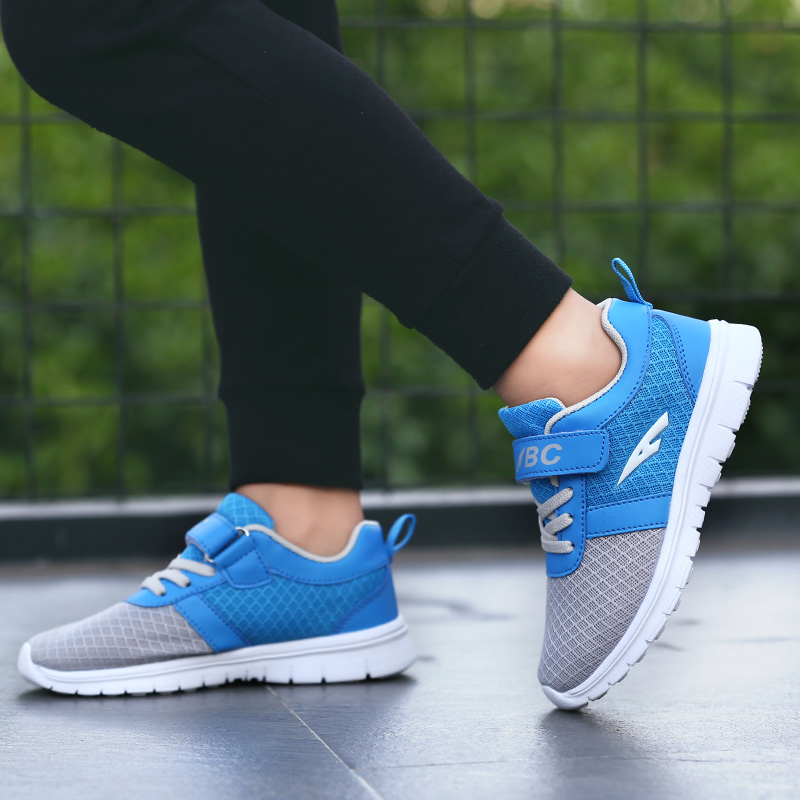 Thestron 2019 Boys Shoes Kids Summer Light Boys Footwear For Children Breathable Kids Walking Sneakers For Boys Blue Green Shoes