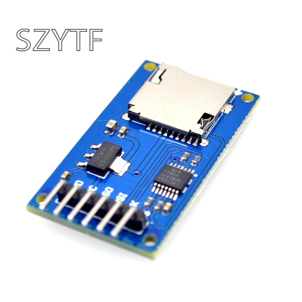 Micro SD Card & SDHC(high-speed Card) Mini TF Card Reader Module Adapter SPI Interfaces With Level Converter Chip For Arduino
