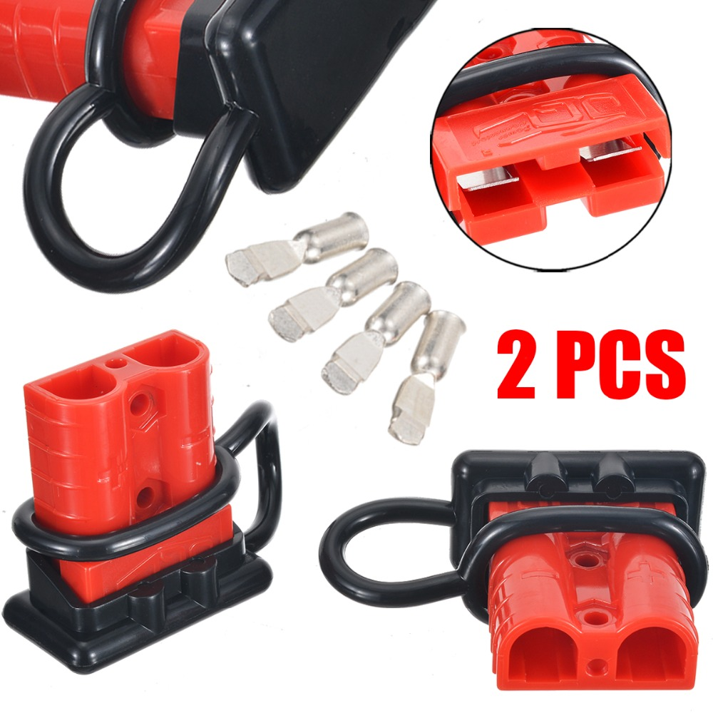 2pcs/lot Battery Quick Connect Kit 50A 6AWG Plug Connect Disconnect Winch Electrical Power Cable Connectors