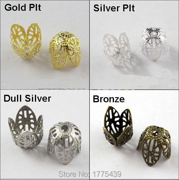 50PCS Alloy Bead Caps Lead Free Cadmium Free Antique Bronze 11.5mm Beads Making