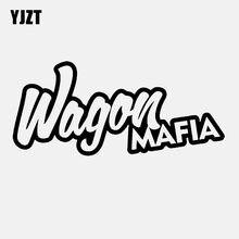 Yjzt 14.5 cm * 6.5 cm jdm wagon mafia carro-estilo de moda vinil carro adesivo decalque preto prata C11-2171