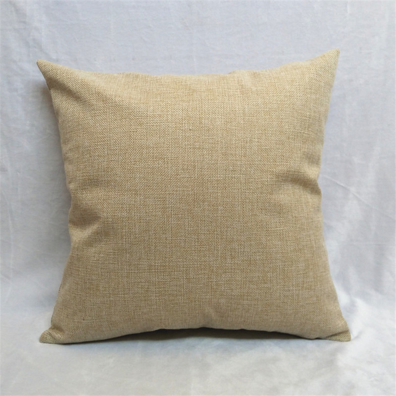 DIY solid beige color blank home decorative pillowcase seat back cushions 45x45cm pillow case, suitable for printing by yourself