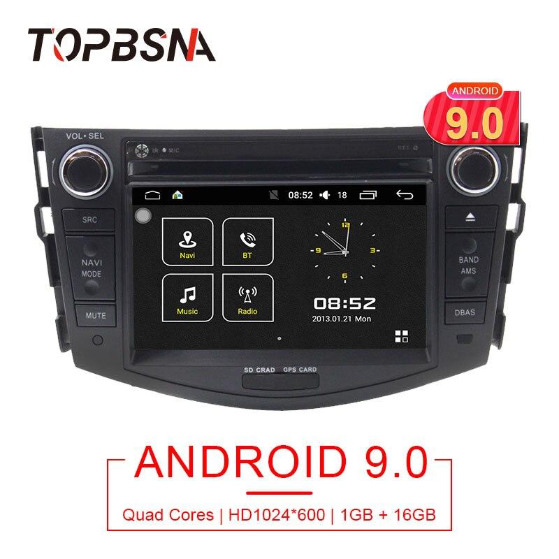 Lecteur DVD de voiture TOPBSNA 7 pouces 2 Din Android 9.0 pour Toyota rav 4 RAV4 autoradio stéréo 4 cœurs RDS GPS Navigation Headunit WiFi