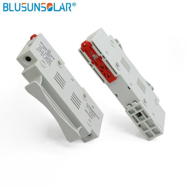 2pcs Solar Fuse 1500vdc 10x85 Gpv With 2pcs 15a Din Rail Mount Solar
