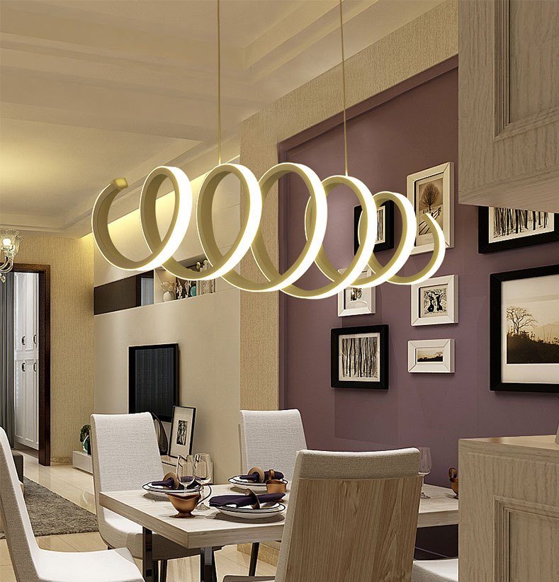 Minimalism DIY Hanging Modern Led Pendant Lights For Dining Room Bar Suspension Luminaire Suspendu Lamp