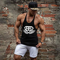 Nuevos gimnasios clothing men fitness bodybuilding stringer singlet camisetas sin mangas de fitness marca shark clothing músculo golds chaleco sin mangas