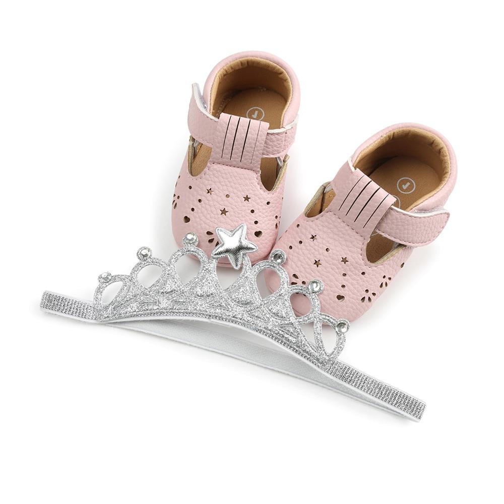 Delebao Nowy styl PU maluchy Noworodek buty z pałąkiem Płytkie - Buty dziecięce - Zdjęcie 4