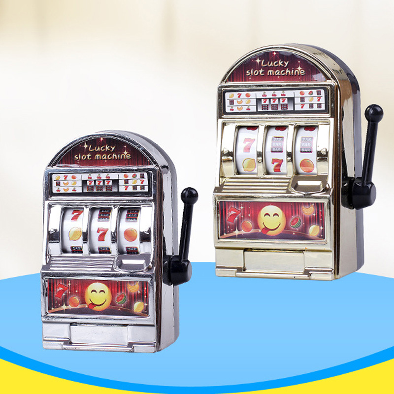 1PC Mini Slot Machine Toy Children's Educational Toys Decompression Slot Machine Gift Creative Fruit Machine Children's Gift