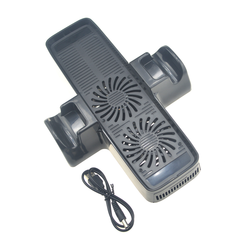 High Quality 3 In 1 Cooling Dock Station Bottom Stand Fan Cooler For Xbox 360 Slim Console Free Shipping