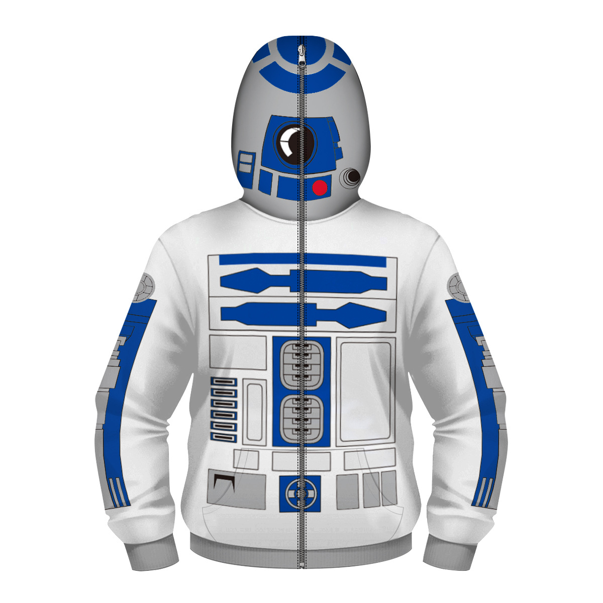 STAR WARS R2D2 - 3D STREET WEAR Cosplay Costume New Arrival Streetwear Kid Hip Hop Sweatshirts Spring Autumn Hooded Sweatshirt