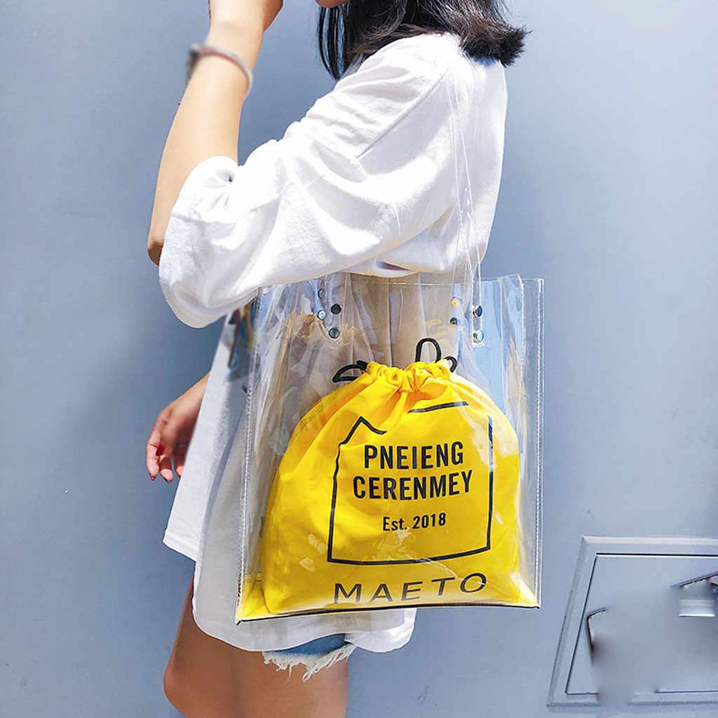 Frauen Tasche Mode Transparent Schulter Bündel Tasche Handtasche Strand carteras mujer de hombro y bolsos torebka damska shopper