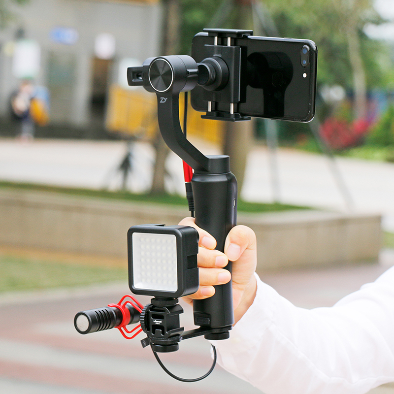 Image 5 - Ulanzi PT 3 Triple Hot Shoe Mount Adapter Microphone Extension Bar for Zhiyun Smooth 4 DJI Osmo Pocket Gimbal Accessories-in Photo Studio Accessories from Consumer Electronics