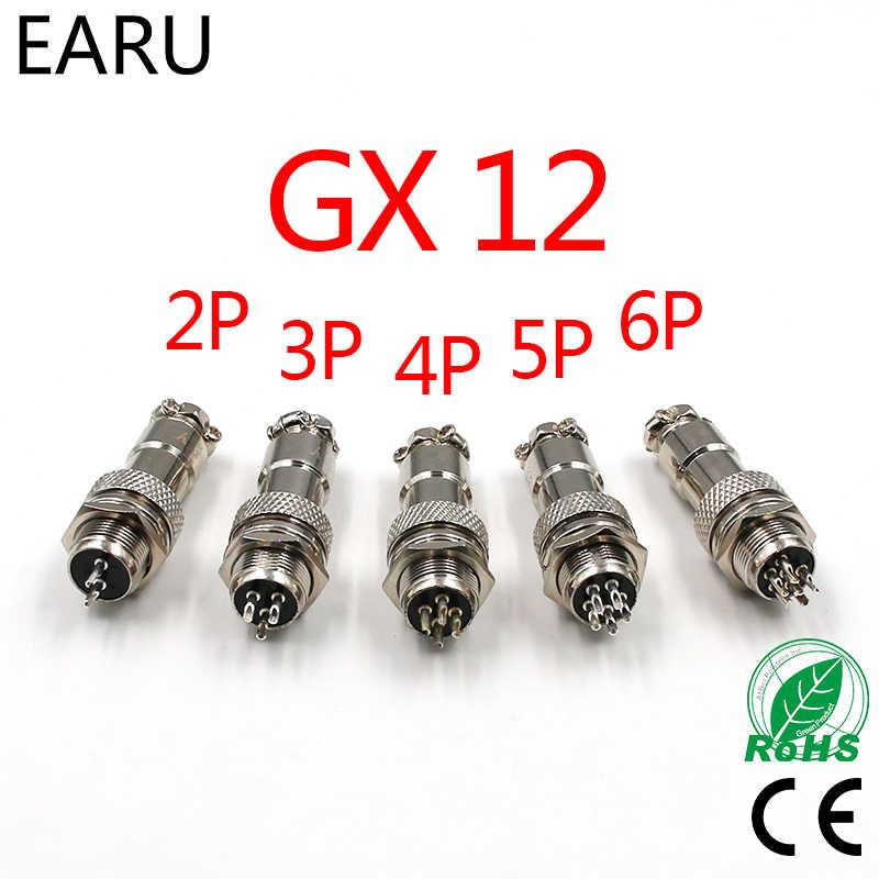 """1 Juego, 7/16 """"GX12 2 3 4 5 6 7 Pin macho hembra de 12mm M12 Panel de cables L91 GX12 conector de aviación Circular, enchufe DF12 M12"""