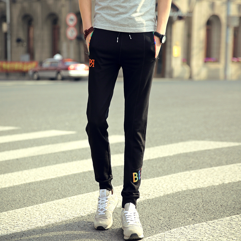 2017 Spring Casual Pants Men Sweat Pants Male Cotton Sportswear Casual Trousers Straight Pants Hip Hop High Street Trousers Pant
