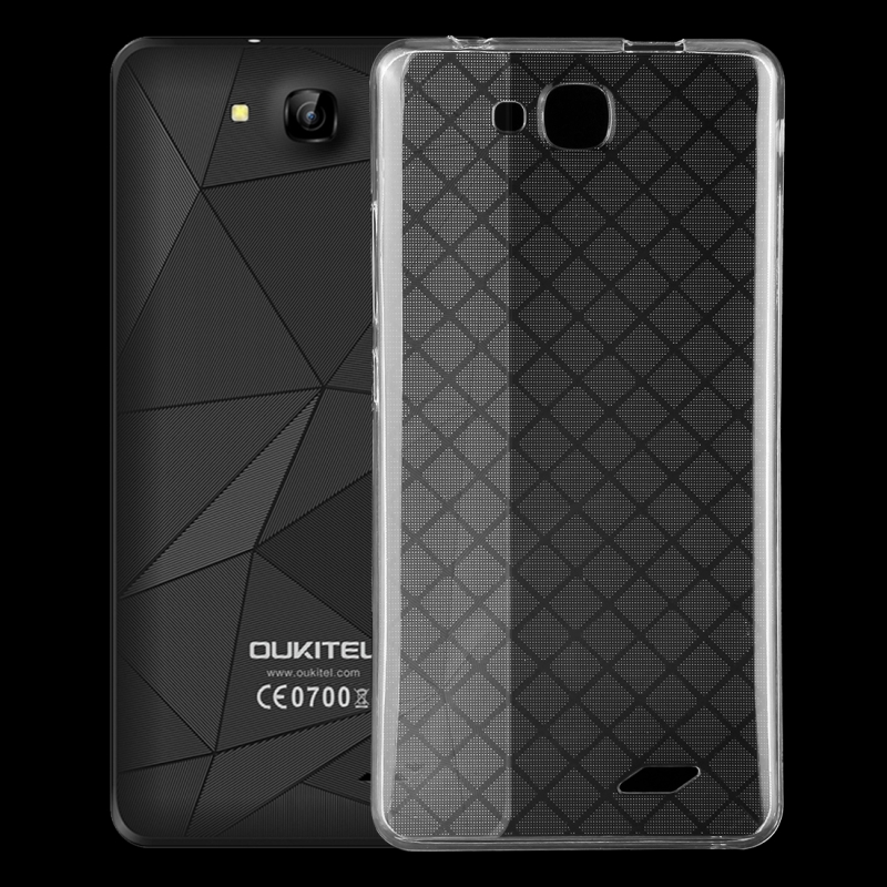 Oukitel C3 TPU Case Transparent Soft Mobile Phone Cover Shell for 5.0 inch Smartphone, 5.0 inch