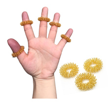 5pcs/Lot Finger Massage Gold Ring Acupuncture Ring Body Massage RelaxationChinese Medicine Weight Loss Massager Health Care A031