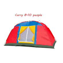 Outdoor 8-10 people single-layer wild big tent custom Mountain climbing camping travel beach tent цена 2017